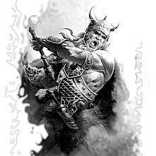 wiking wojownik tatuaż tatt...