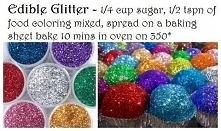 JADALNY BROKAT Zmieszać 1/4 szklanki cukru z 1/2 łyżeczki barwnika spożywczeg...