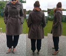 Sprzedam klasyczny lekko rozkloszowany płaszczyk z H&M, rozmiar 46, powin...