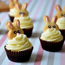 Wielkanocne babeczki zajączki