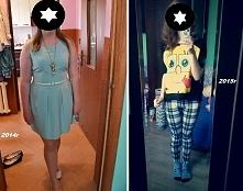 1 zdjęcie z lipca 2014 - rozmiar XL 2 zdjęcie z marca 2015 - rozmiar S  Moja metamorfoza <3