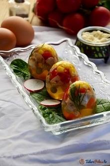Jajka galaretki z kurczakiem i warzywami ... Klik