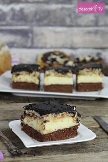 """Ciasto Prince Polo  """"Przepysznie wyglądające ciasto na delikatnym biszko..."""