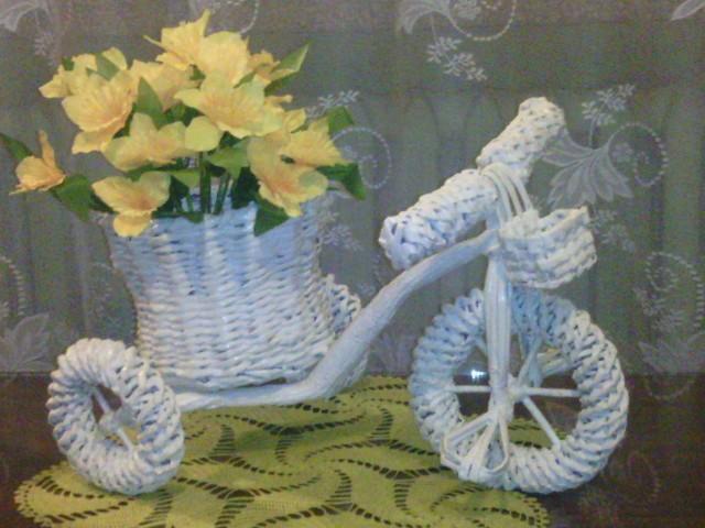 6d7aefc32025d4 wiklina papierowa rower na papierowa wiklina - Zszywka.pl