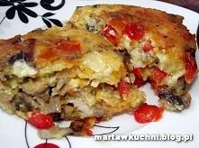 Drobiowe kotlety z pieczarkami i papryką  Składniki: 1 podwójny filet z kurcz...