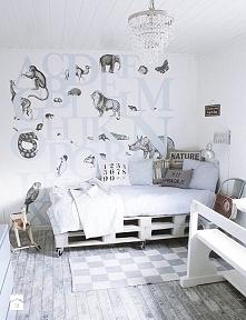 Pokój dla dziecka, styl skandynawski + użycie palet ;)