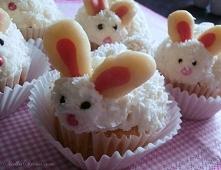Kokosowe Muffinki - Babeczki Króliczki na Wielkanoc