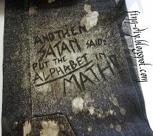 And then satan said: put the ALPHABETH in the MATH! Okładka na zeszyt