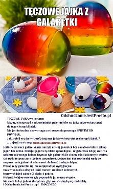 jak zrobić kolorowe jajka (diy - wielkanocne dekoracje stołu)