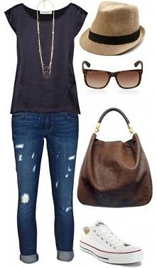 jeans&black t-shirt