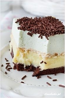 "Ciasto "" Miętusek"" - cały przepis na ilovebake.pl"
