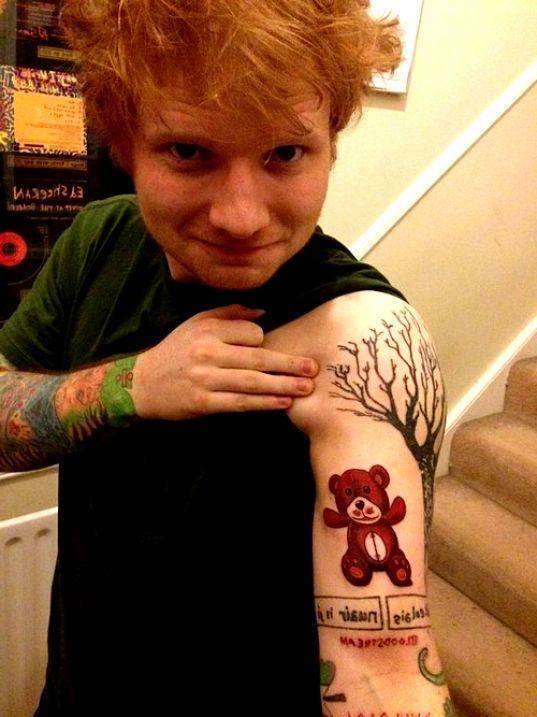 Ed Sheeran Tattoo Na Ciekawe Tatuaże Zszywkapl