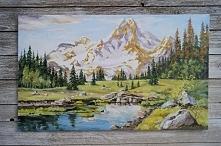 Olej na plotne. 65 x 40 cm....
