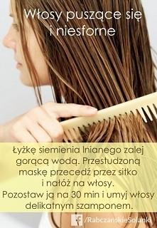 Siemię lniane to świetny materiał na maskę, która pomoże ujarzmić Twoje włosy. Dodał Rabczańskie Solanki Obserwuj raportuj Komentarze