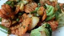 dzień 10 wyzwania. Obiad - warzywa na patelnie z ziemniakami :)