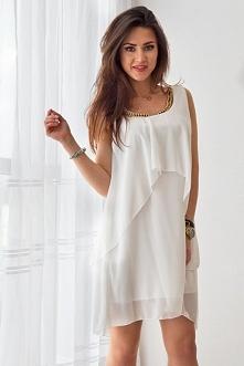 Na naszym FB pobierz rabat na zakupy! Kliknij w zdjęcie by przejść do sklepu. Szyfonowa sukienka z naszyjnikiem.