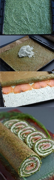Przepis na roladę szpinakową z łososiem to świetne połączenie smaków szpinaku...