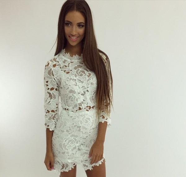 033cf2e6cd biała sukienka koronkowa na Moda - Zszywka.pl