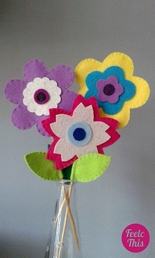 filcowe kwiatki