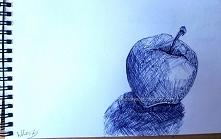 Jabłko Format: A5 Materiały: niebieski długopis Więcej na: remdesrysuje.blogs...