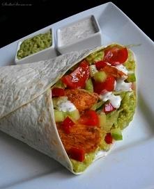 Tortilla z Kurczakiem i Guacamole Przepis po kliknięciu w zdjęcie!