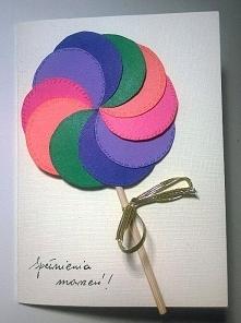 kartka urodzinowa - lizak
