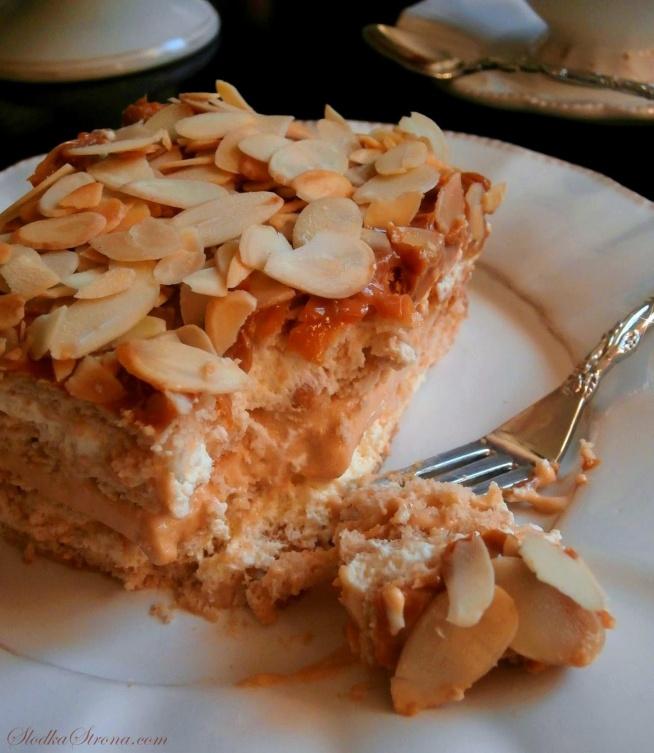 """Ciasto """"Krówka"""" - Bez Pieczenia - Przepis po kliknięciu w zdjęcie"""