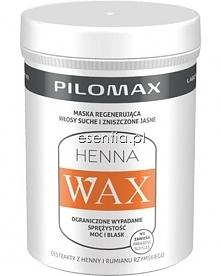 Henna Wax Blond to silnie regenerująca maska do włosów suchych – jasnych lub rozjaśnianych, z problemem nadmiernego wypadania. Odbudowuje i regeneruje włosy, przywraca im elasty...