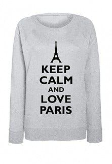 LOVE PARIS bluza z nadrukie...