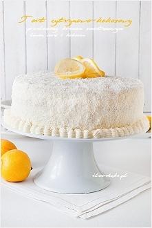 Tort cytrynowo-kokosowy z musem cytrynowym i lemon curd – przepis ilovebake.pl