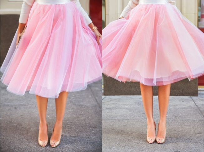 00e5f0678ecd54 Piękna spódnica tiulowa MIDI - modna spódniczka z tiulu a'.. na Mój ...