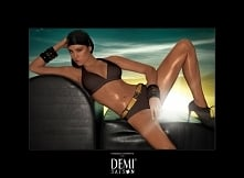 Demi Saison - Kostium kąpielowy Lady Madonna brązowy z paskiem