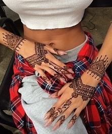 Pięknie zrobiona henna