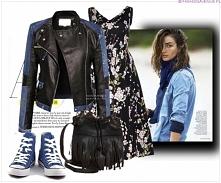fashionavenue.pl kurtka damska ramoneska skóra jeans na wiosnę i lato najmodniejsza #101
