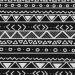 czarno-biały aztecki wzorek