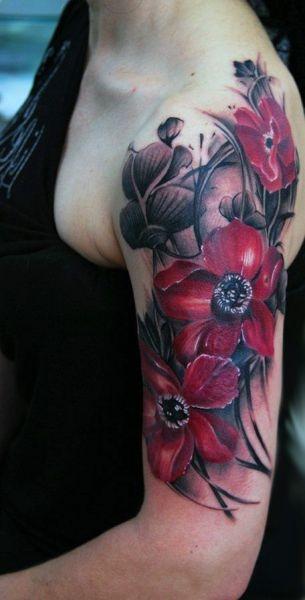 Tatuaże Damskie Piękne Kwiaty Na Tatuaże Zszywkapl