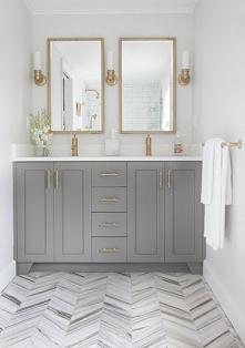 Piękna łazienka w szarościach