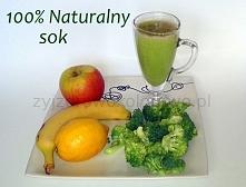 Składniki na jedną porcję pysznego soku: 1 jabłko, 0,5 brokułu, 0,5 cytryny, Opcjonalnie : 1 banan, Brokuł i jabłko wrzucamy do sokowirówki. Następnie dorzucamy banana, cytrynę ...