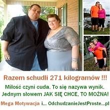Mega Fitnes, Mega Dieta, Mega Odchudzanie, Mega Motywacja - inaczej tego nie można nazwać. Dowód jaką motywację do odchudzania daje miłość :) 271 kg mniej !