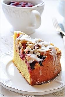 Ucierane ciasto z wiśniami, proste – przepis ilovebake.pl