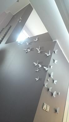 tekturowe motyle