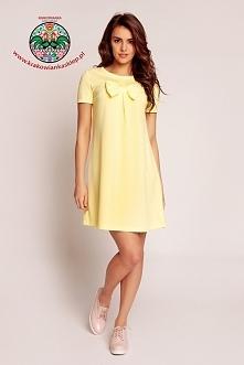 wiosenna żółta sukienka