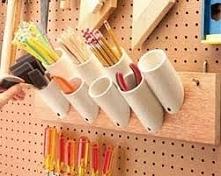 organizer z rurek plastikowych