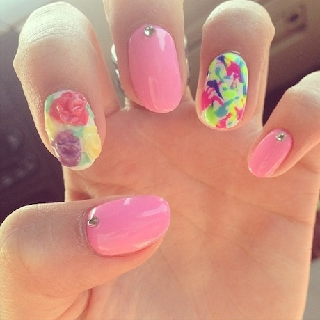 Moje marcowe paznokcie ładne? :)
