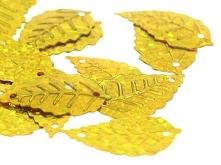 Cekiny Listki Piegi Złoty