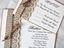 Zaproszenia ślubne z koronką