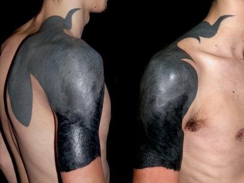 Czarny Tatuaż Na Tatuaże Zszywkapl