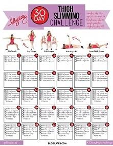 30-dniowe wyzwanie na uda - wydrukuj i do dzieła! //by Blogilates