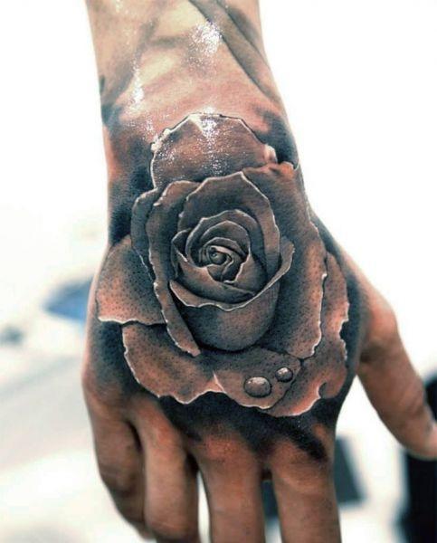 Tatuaże Na Dłoni Róża Na Tatuaże Zszywkapl