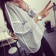 kup na SHOCK.COM.PL Modna bluza damska na lato - lekka luźna i przewiewna delikatna bluza damska oversize na wiosnę i lato 2015 ! Świetna szara bluza dla dziewczyn / dla kobiet ...